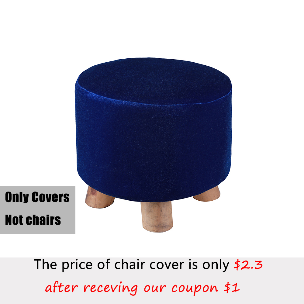 Slipcover Stretch Ottoman Furniture Protector Chair Cover for Home Sofa Beautiful and Dustproof Household Office Stool Cover