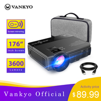 VANKYO Leisure 3/3W 1080P Mini Projector with Synchronize Smartphone Screen Portable WiFi Projector for iOS/Android Devices