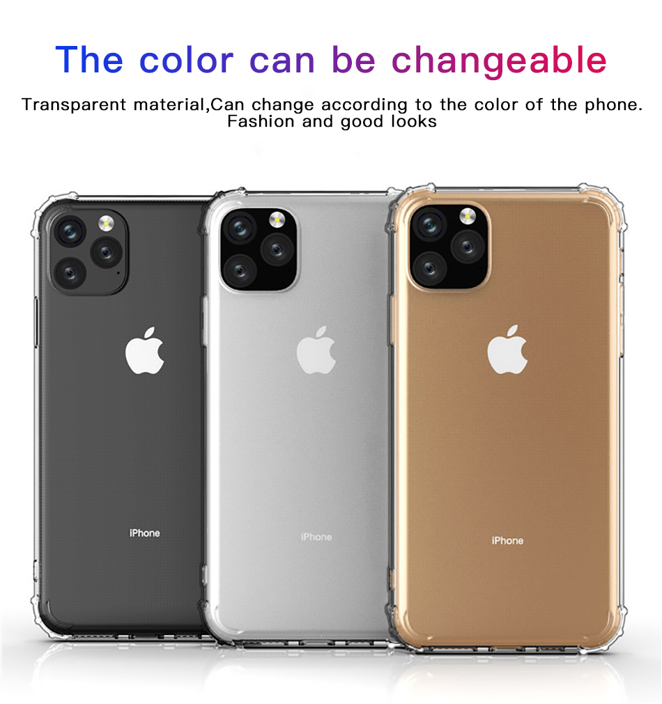 !ACCEZZ For iPhone 11 Case 2019 For iphone 11 Pro Max New Soft Cases Transparent Protection Back Cover Mobile Phone Shell Coque (6)