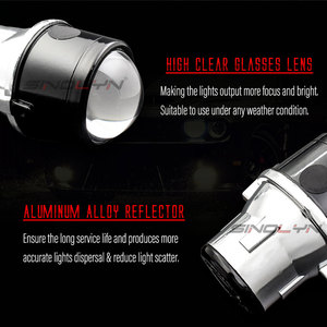 Image 3 - Sinolyn Bi XenonหมอกไฟสำหรับFord Focus 2 MK2 Fiesta/CITROEN C4/Subaru Forester/Honda fit/Suzuki Swift H11 โคมไฟHID Retrofit