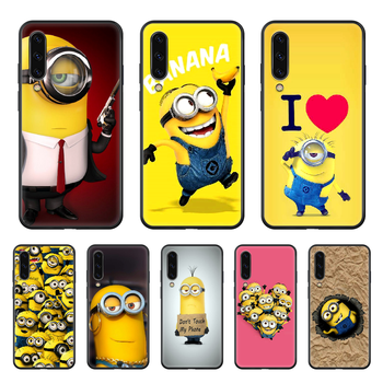 Anime Minions Funny Phone case hull For Samsung Galaxy A 50 51 20 71 70 40 30 10 E 4G S black prime trend funda fashion Etui image