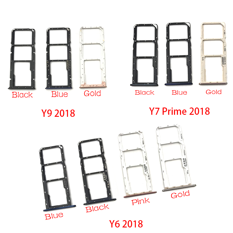 SIM Card Tray Slot Holder Replacement Part For Huawei Y6 Y7 Prime Y9 2018