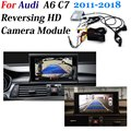 Камера заднего вида резервного копирования декодер для камеры для Audi A6 C7 2011-2018 оригинальный 8 дюймов Дисплей модернизации парктроник Систем...
