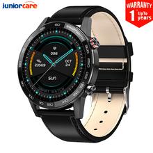 2020 nowy L16 inteligentny zegarek dla mężczyzn ekg ciśnienie krwi zegarek sportowy 360*360 IPS IP68 wodoodporny 22mm zespół VS L13 SmartWatch tanie tanio JuniorCare CN (pochodzenie) Brak Na nadgarstku Wszystko kompatybilny 128 MB Passometer Fitness tracker Uśpienia tracker