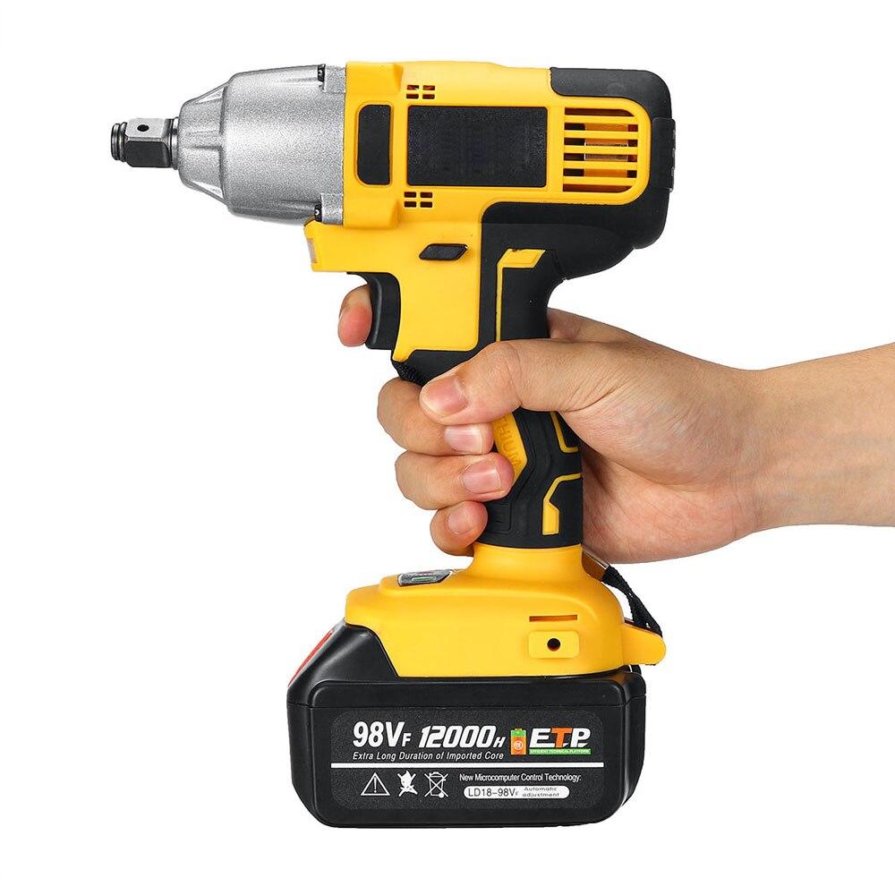 2021 nova ferramenta 98vf 320nm 12000mah chave de impacto elétrica sem fio chave de fenda 110-240v atornilador de impacto