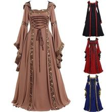 中世衣装ハロウィンカーニバル中世ステージパフォーマンスゴシックレトロ裁判所ビクトリアドレスS 5XL