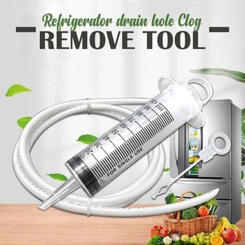 Lodówka otwory spustowe płyn do udrażniania rur urządzenia do oczyszczania s urządzenia do oczyszczania węża domowego urządzenia do oczyszczania lodówki czyszczenie wylotu wody 2020 tanie i dobre opinie Torby Pochłaniacz wilgoci Refrigerator Drain Hole Clog Remover