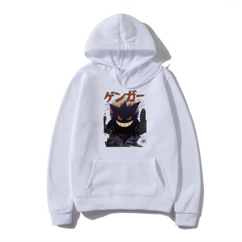Men Hoodies Sweatshirts Gengar Kaiju man hoodies Harajuku Pokemon Fashion Men's Tops Pullover Hip Hop Japan Streetwear sudaderas 2