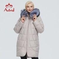 2019 Astrid winter jacket women with fox fur collar design long thick cotton clothing fashion warm women parka AR 9179