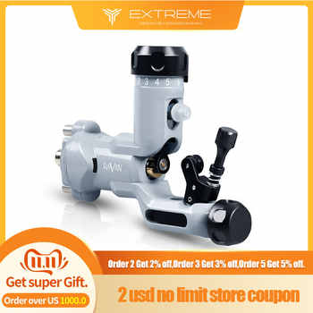Dragonhawk Raven Rotary Tattoo Machine New Design One Touch Hit Adjuster Machine with 304 Steel Tattoo Grip - DISCOUNT ITEM  34% OFF All Category