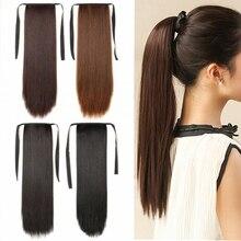 """LUPU 2"""" Новые супер длинные женские прямые волосы конский хвост Высокая температура волокна синтетический термостойкий шнурок ремень Зажим для ремня"""