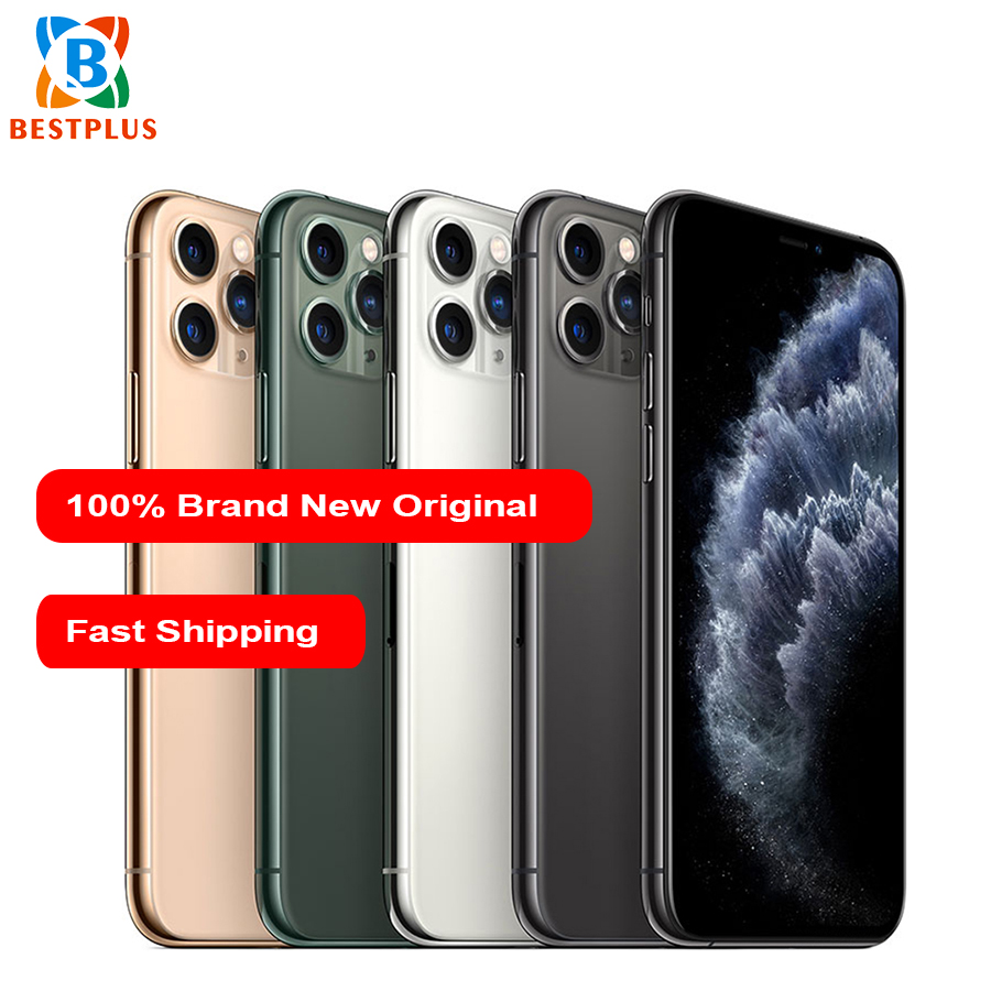 Новый Apple iphone 11 pro max A2220 мобильный телефон 6,5 4 Гб ОЗУ 64/256/512 Гб ПЗУ гекса coreTriple камера заднего вида двойной SIM смартфон