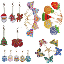 Diamond Painting Embroidery Christmas-Gift Animal-Girl Round Full Keychain DIY Special-Shaped