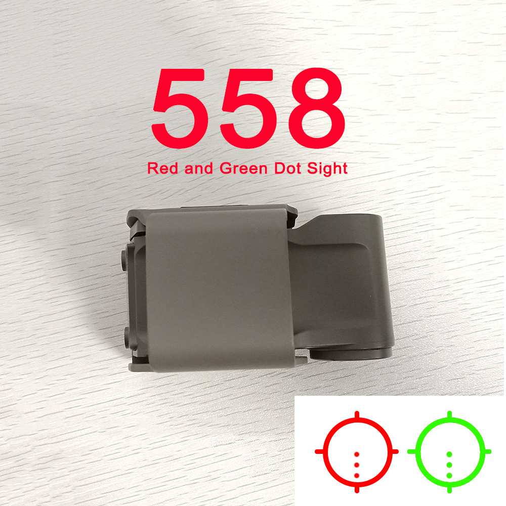 New Tactical <font><b>558</b></font> Collimator Holographic Sight Red Green Dot Optic Scope Reflex Sight Dark earth color clear lens for Airsoft image