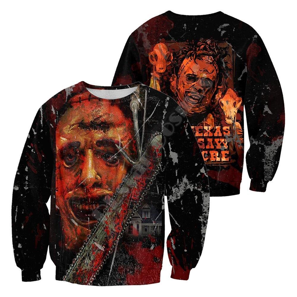 Купить leatherface пуловер спортивный костюм модный crewneck для мужчин