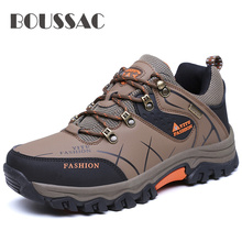 Mens breathable outdoor hiking shoes large size four seasons travel boots non-slip waterproof