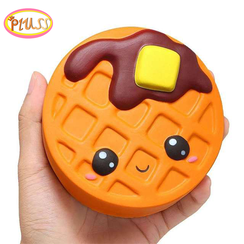 Cute Cartoon Cheese Chocolate Biscuits Cake Squishy Food Slow Rising Cream Scented Soft Squeeze Toy Relieve Stress Funny Gift