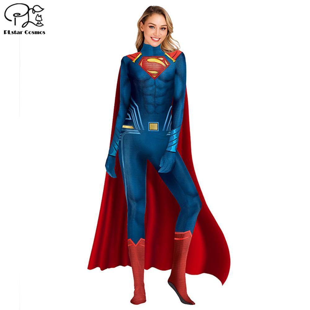 Adult Kids Batman Superman Aquaman Cosplay Halloween Costume Zentai Superhero Bodysuit Suit Jumpsuits size S XL in Jumpsuits from Women 39 s Clothing