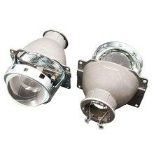Araba Styling 3.0 inç Q5 H7 Bi Xenon projektör Lens H7 HID Xenon/halojen/LED far LHD far ayar güçlendirme