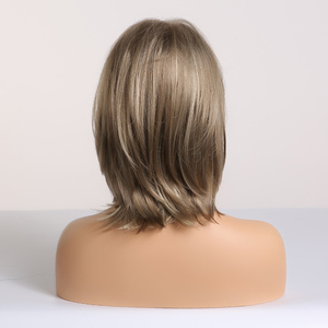 Image 3 - EASIHAIR Short Synthetic Wigs for Women Blonde Bob Wigs Layered Natural Hair Cosplay Daily Wigs High Temperature Fiber Full Wigs