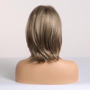 Image 3 - EASIHAIR קצר סינטטי פאות עבור נשים בלונד בוב פאות שכבות טבעי שיער קוספליי יומי פאות טמפרטורה גבוהה סיבי מלא פאות