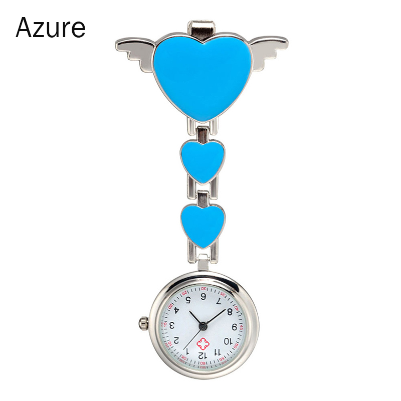 Fashion Round Dial Quartz Angel Band Brooch Nurse Watches Ladies WomenDoctor Hanging Watches DO99