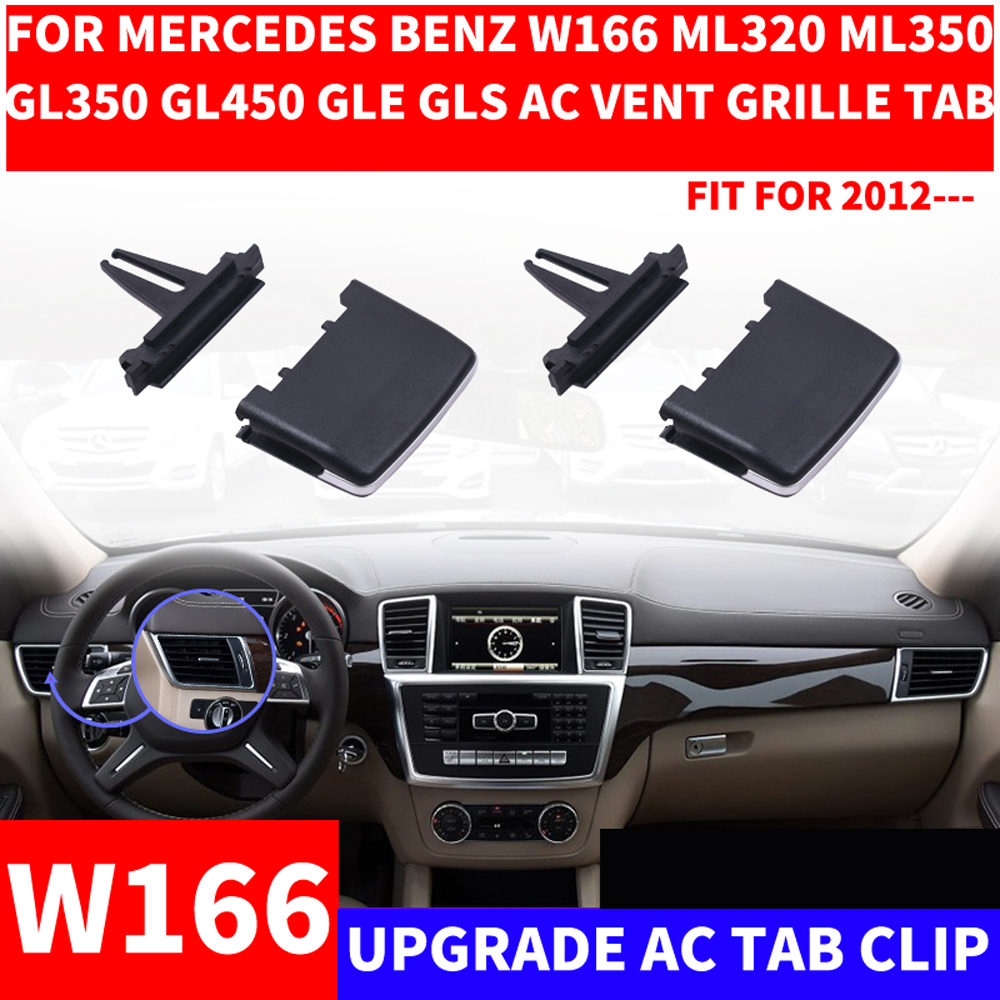 Car A/C Air Vent <font><b>Grille</b></font> Tab Clip Automobiles Air Conditioner Outlet Repair Kit For Mercedes-<font><b>Benz</b></font> W166 ML320 ML350 GL450 ML GLE image