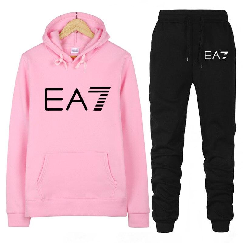 Sudadera con capucha para mujer, conjunto de 2 piezas de chándal, jersey de manga larga, traje deportivo, nuevo diseño, Otoño Invierno 2020