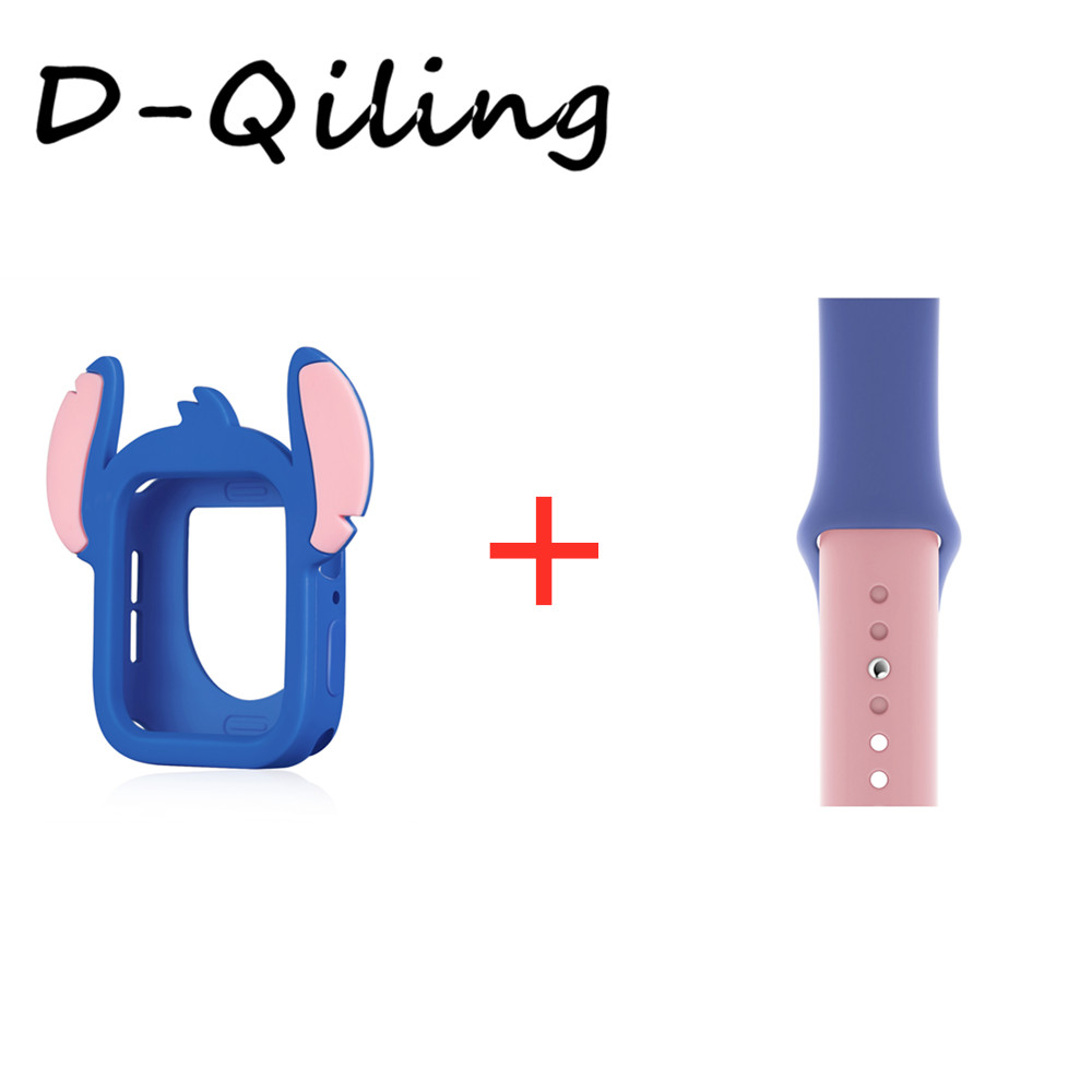 Cute Stitch silicone strap for apple watch band 44mm 40mm for iwatch band4 5 Replaceable Accessories image