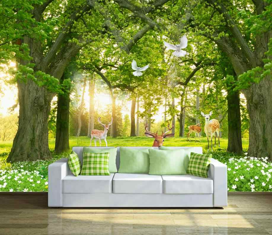 Home Decor Custom 3d Wallpaper 3d Forest Wallpaper Room In The Living Room Bedroom 3d Background Wall Aliexpress