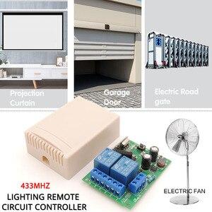 Image 2 - 433MHz אלחוטי שלט רחוק AC 220V 10A 2CH rf ממסר מקלט ומשדר מרחוק אור/הנורה/מנוע מתג