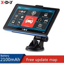 Xgody 718 7 Zoll GPS Navigation Für Auto 128 + 8GB Lkw GPS Navigator Touchscreen Russland Europa Amerika freies Karte 2020 Fahrzeug GPS