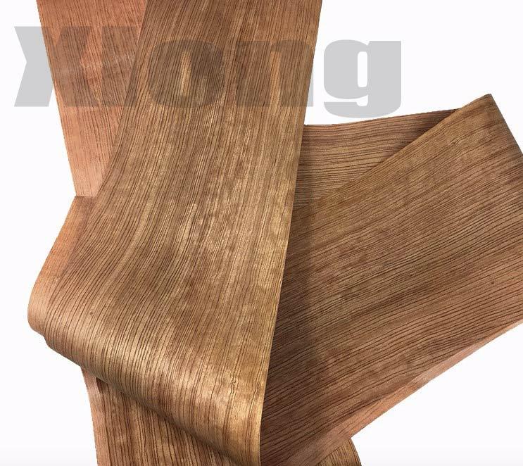 L:2.5Meters/pcs    Wide:260mm Thickness:0.18mm Natural Pear Straight Grain Veneer Solid Wood Speaker Skinning