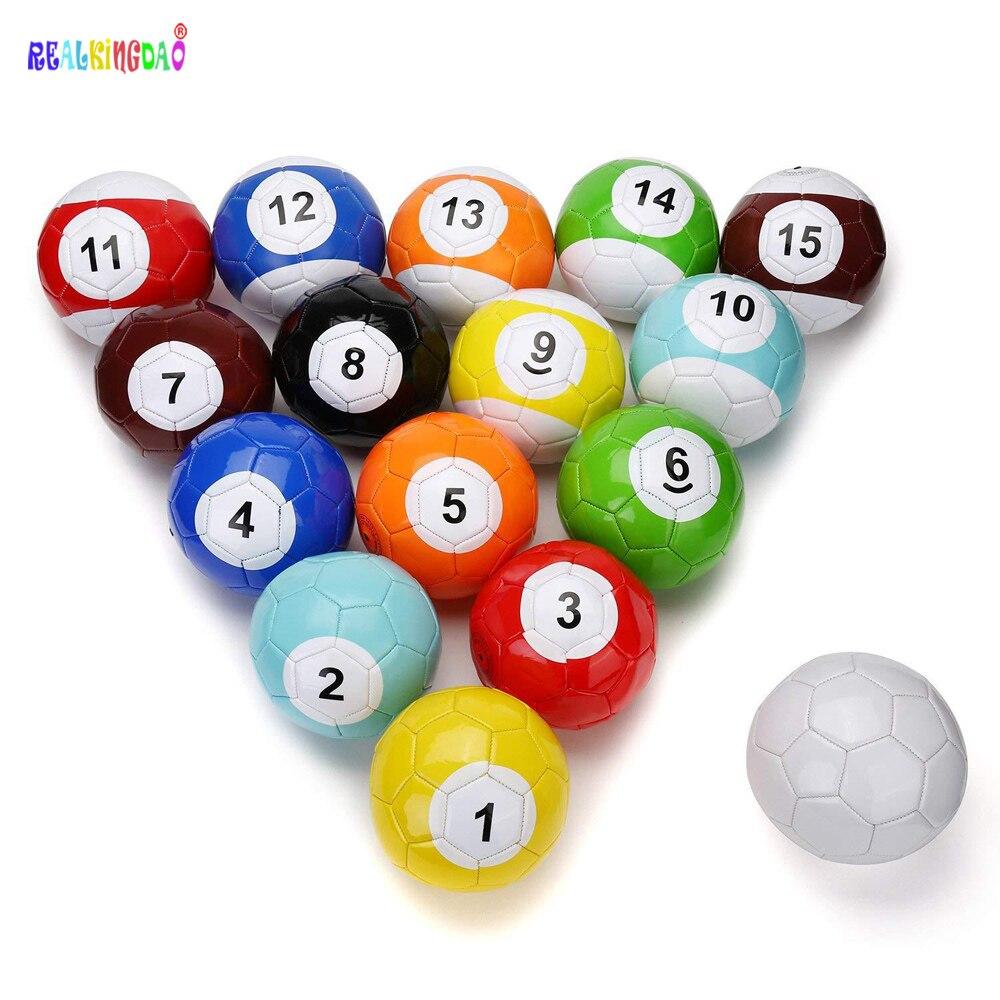 2# 3# 4# 5# 16 Pieces A Lot Snook Soccer ball,Billiard ball,Snooker Football for Snookball game soccer balls size 4