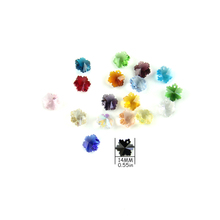14mm Mixcolors Crystal Snowflake Chandelier Hanging Drops beads for craft One/Two Holes for Home Decoration