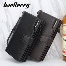 Портмоне baellerry мужской модный длинный однотонный кошелек