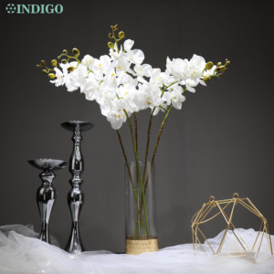 Image 2 - INDIGO  Phalaenopsis Butterfly White Orchid Real Touch Artificial Flower Office Wedding Moth Orchid Floral Party  Interior Trim