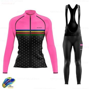 Ropa de ciclismo de secado rápido para mujer, Jersey de manga larga,...