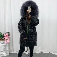 Jacket Coat Fitaylor Long Parka Duck-Down Female Winter Women Bright-Side Waterproof