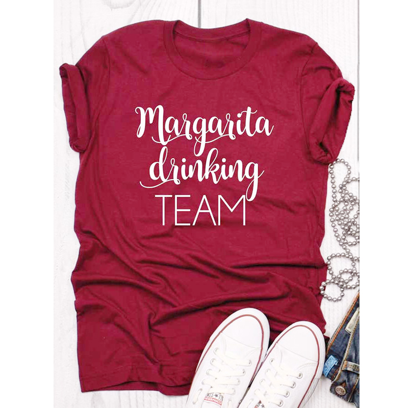 Margarita Drinking Team T-shirt Funny Unisex Cinco De Mayo Holiday Tshirt Casual Women Short Sleeve Drinking Cotton Tees Tops image