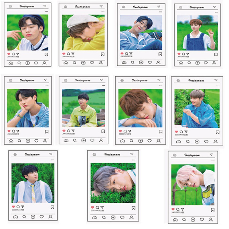 11pcs/set KPOP X1 Lomo Cards Photo Cards Sticky Photocard Poster Gift For Star Concert Party Fans Gift