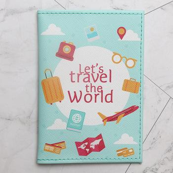 2021 nowy świat mody mapa kolor Unisex okładka na paszport z podróży wbudowany RFID blokowanie ochrony danych osobowych tanie i dobre opinie CN (pochodzenie) 10cm AKCESORIA PODRÓŻNE 14 5cm Paszport portfele pu lether GEOMETRIC