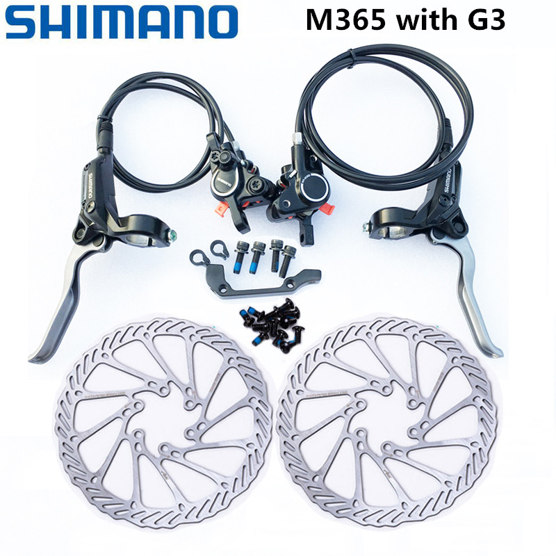 Shimano BR BL MT200 Disc Brake Set Front /& Rear G3 HS1 RT56 Rotor Black MTB