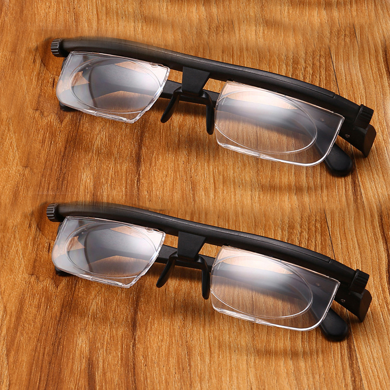 Fashion Adjustable Strength Lens Eyewear Variable Focus Distance Vision Zoom Glasses Protective Magnifying Glasses