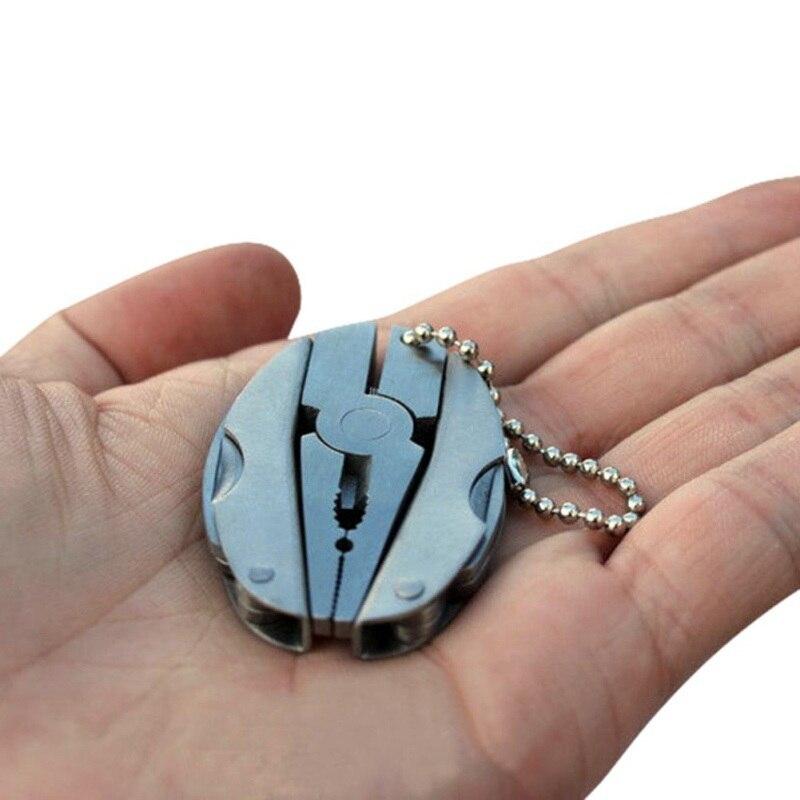 Outdoor Multi-Tool Portable Folding 2cr13 Stainless Steel Pliers Flat Cross Head Screwdriver Cutter Nail File Key Chain EKN98