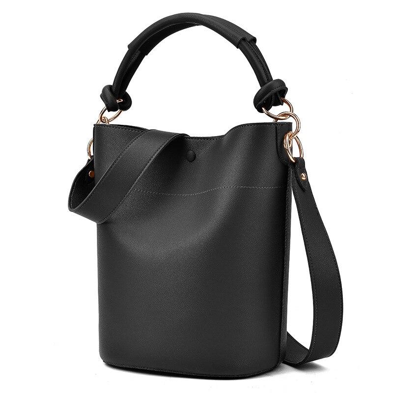 Vintage Buckets Bag Designer Chic Leather Handle Women Handbags Luxury Pu Leather Shoulder Crossbody Bags Large Totes Lady Purse
