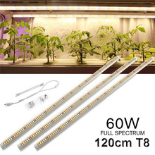 Volledige Spectrum Led Grow Light T8 Buis US EU Plug LED Phyto Lampen Groeien LED Lamp Bar Licht Hydrocultuur Plant groei Licht