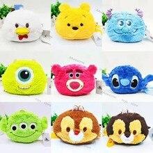 Plush-Backpacks Pooh Winnie Disney Stitch Girls Kids Fashion The for Toys Three-Eyes