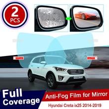 Para hyundai creta ix25 25 2014 ~ 2019 capa completa anti nevoeiro filme capa espelho retrovisor à prova de chuva anti-nevoeiro filmes acessórios 2015