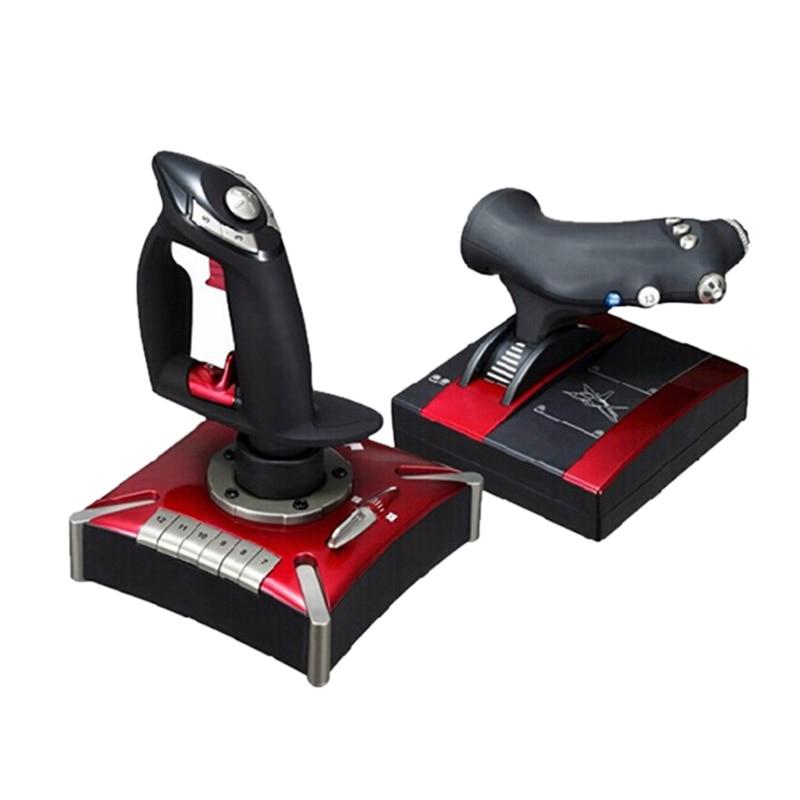 PXN летающие игры проводной игровой джойстик полет рокер полет USB геймпад для симуляторов для компьютера ПК
